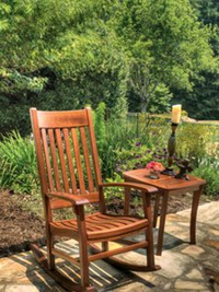 Chair and Side Table Cottage Garden Furniture
