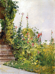 Steps Surrounded by Flowers