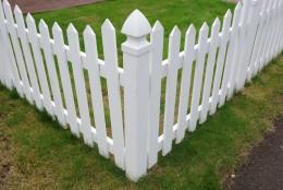 White Vinyl Cottage Garden Fence