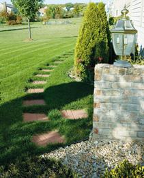 Stepping Stones Garden Cottage How to build a cottage stepping stone path cottage style gardens building a flagstone stepping stone path in a cottage garden workwithnaturefo