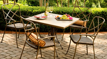 Purchase Woodard Wrought Iron Garden Furniture Table and Chairs